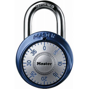 Master Lock 1561DAST Combination Dial Padlock, With Aluminum Cover, 1-7:8-Inch Wide