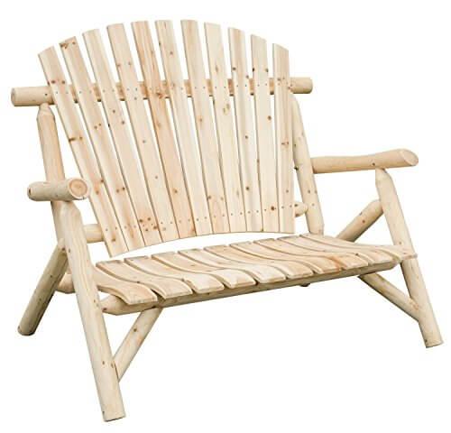 Merax Dual Purpose Pine Loveseat Or Rocking Chair