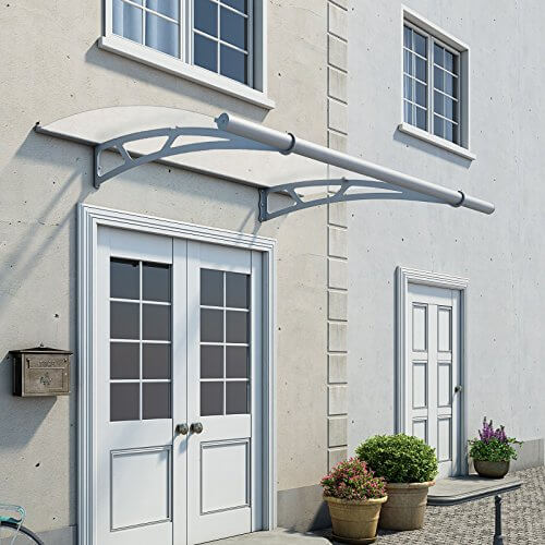 x grey diy pin roof palram panels feria pergola awning cover patio polycarbonate ft