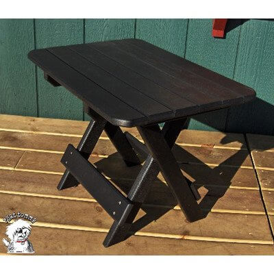 Phat Tommy Recycled Poly Resin Folding Side Table