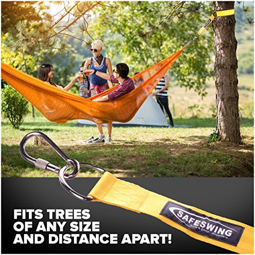 kit hammock safeswing swing p marketplace locking from or safety beamperfect childs tree hammocks hanging pack insteading carabiners safely hang a for yellow uses branch duty straps heavy outdoor