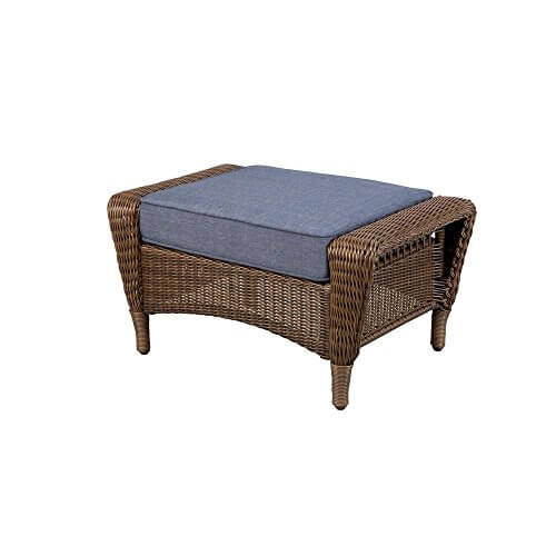 Spring Haven Brown Outdoor Patio Ottoman Insteading