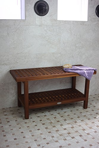 wood seat natural contemporary bench shower wooden design fold teak up