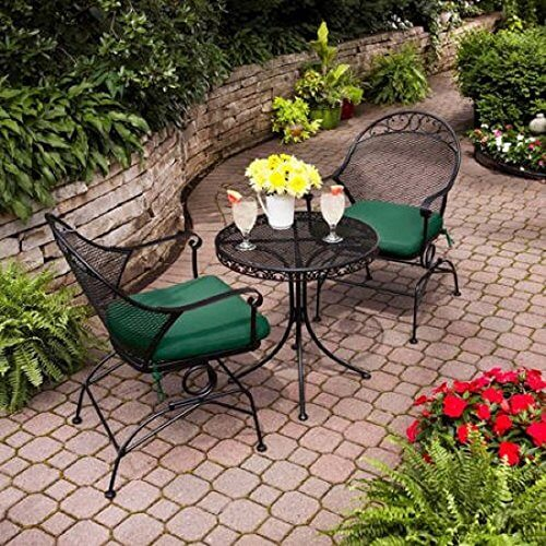 Traditional Style Clayton Court 3 Piece Motion Outdoor Bistro Set