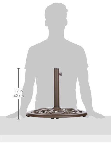 Tropishade 30 Lb Bronze Powder Coated Cast Iron Umbrella Stand
