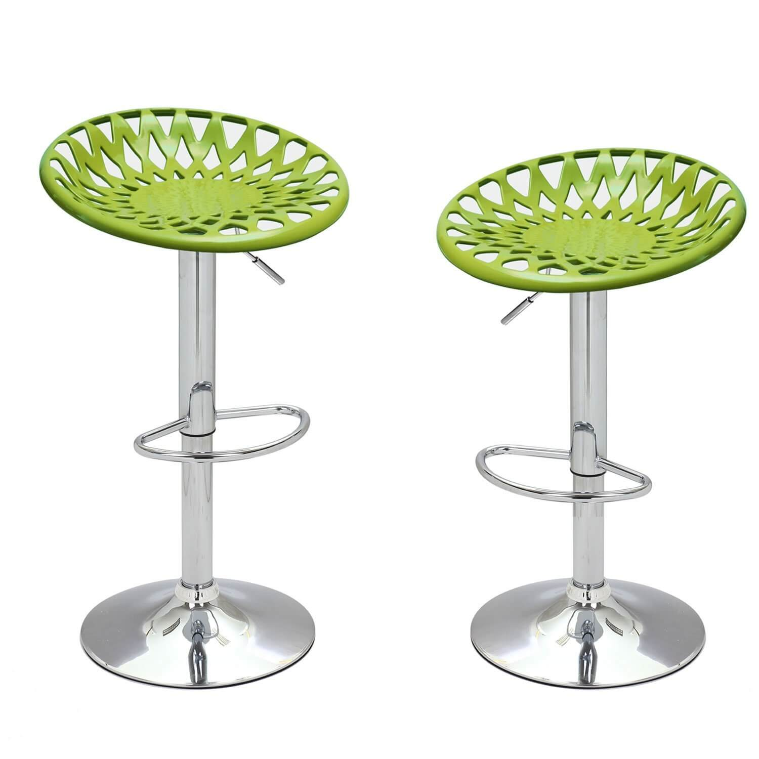 Adjustable Chrome Stool