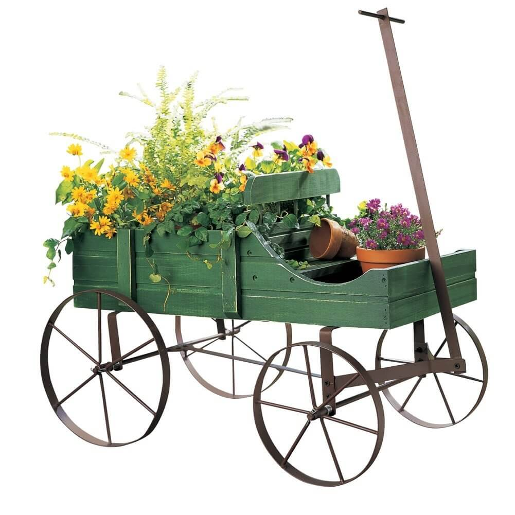 Amish Wagon Outdoor Planter