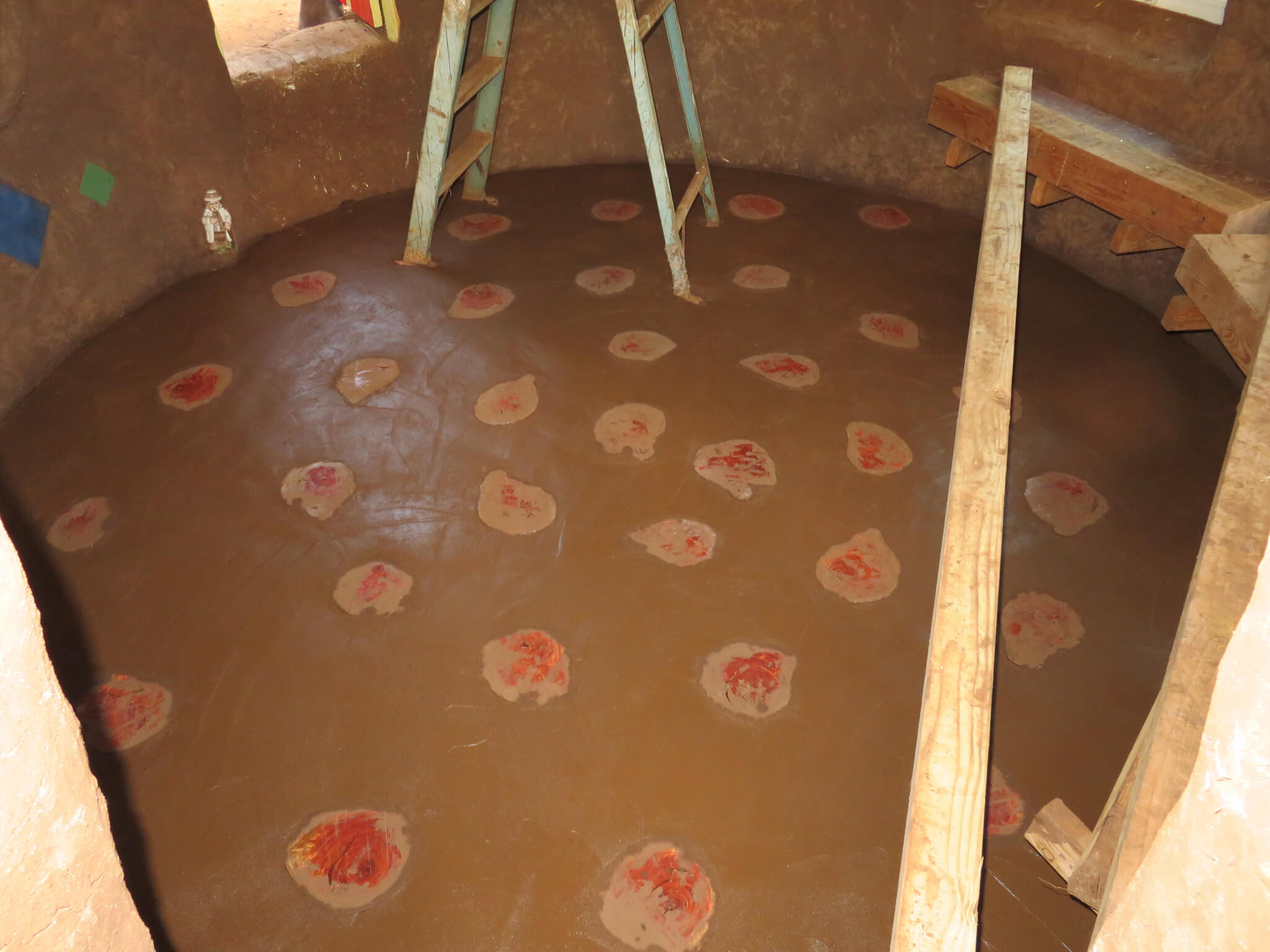 floor of an earthbag dome