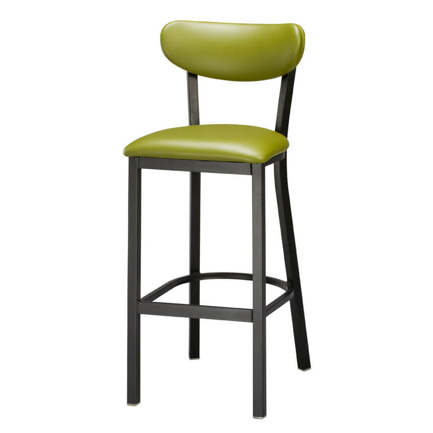 Faux Leather and Metal Kitchen Stool