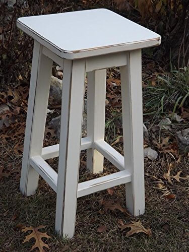 Heirloom White Stool