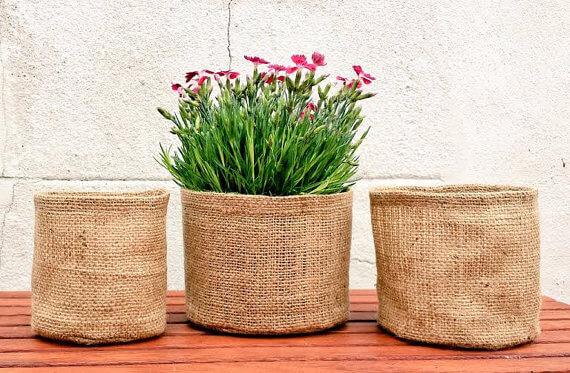 Jute Gardening Planters