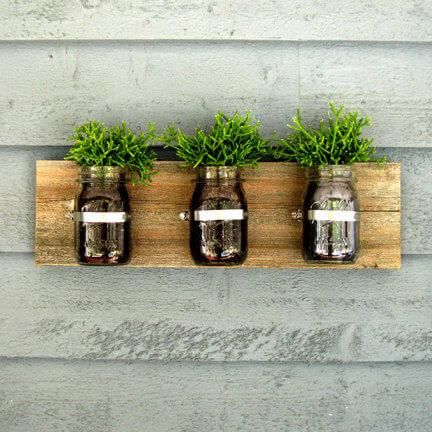 Mason Jar Wall Planter