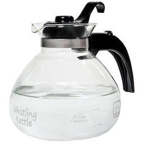 medelco glass tea kettle