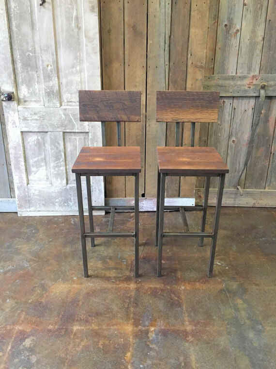 Reclaimed Barn Wood Stools