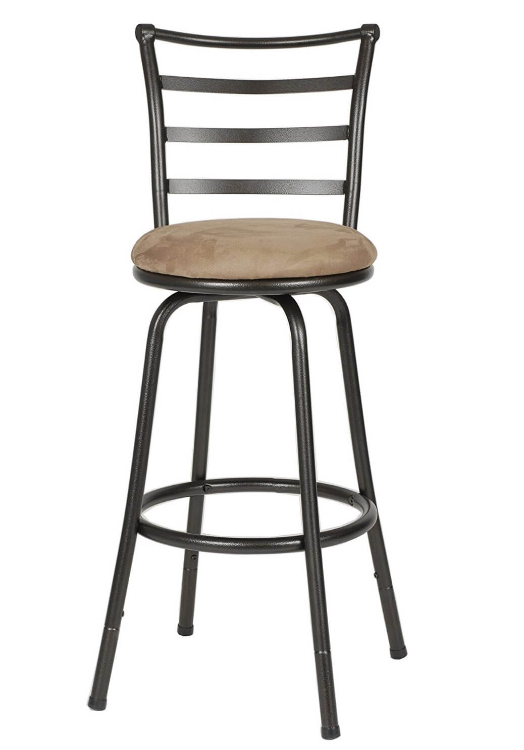 Round-Seat Metal Bar Stool