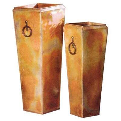 Tall Copper Planters