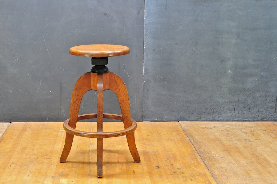 Vintage Wood Kitchen Stool