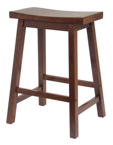 Wood Kitchen Saddle Stool