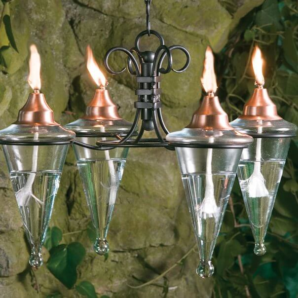 Copper Torch Chandelier