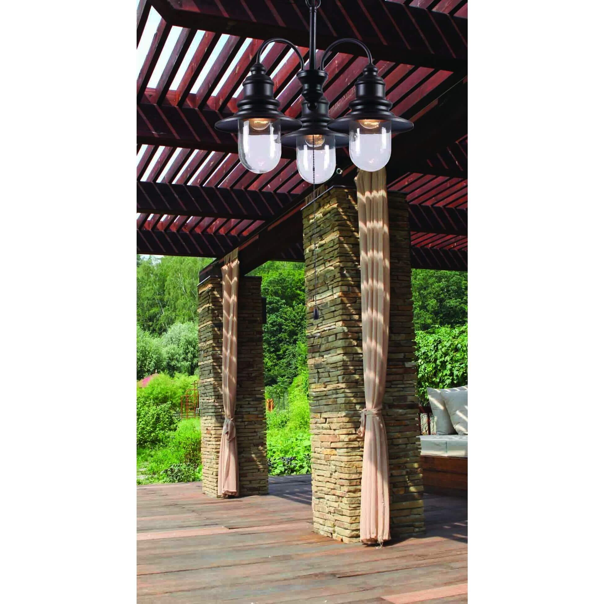 Industrial Outdoor Chandelier