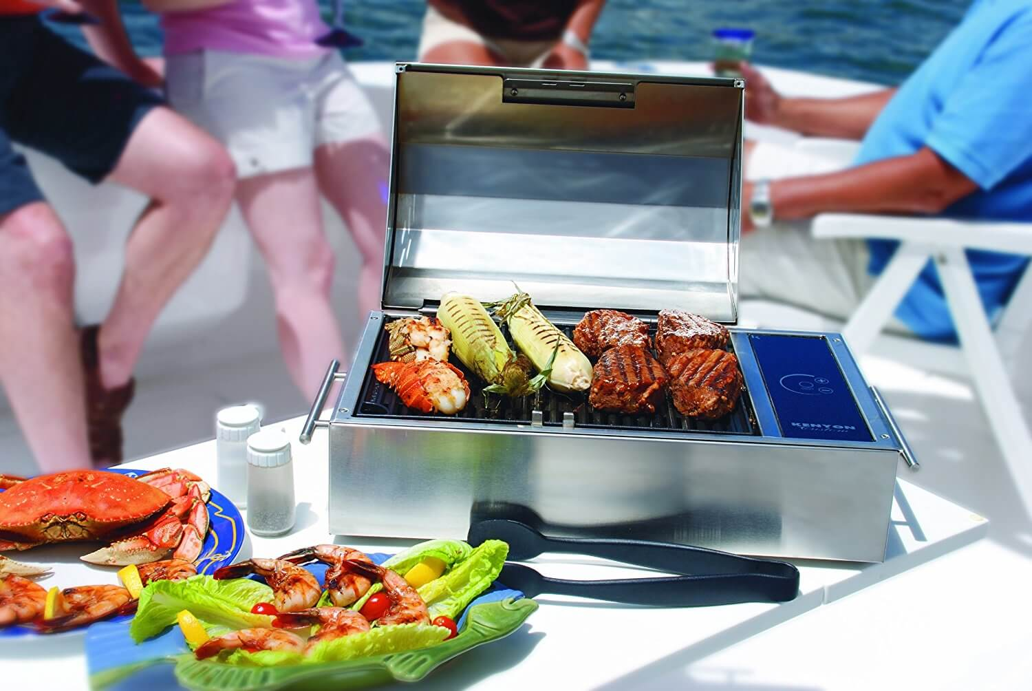 kenyon grill on a boat