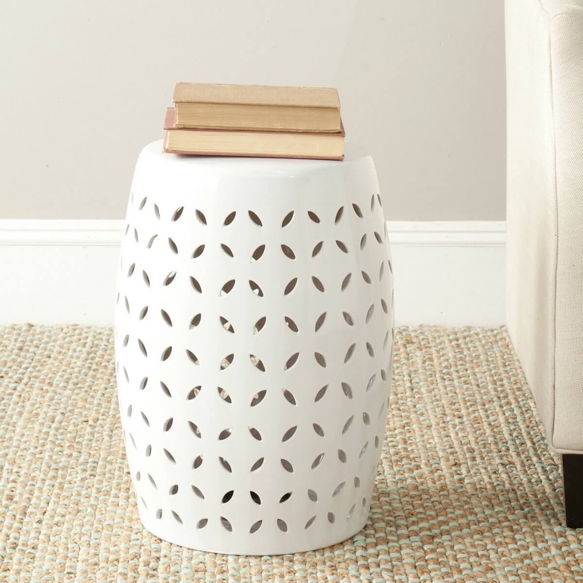 Lattice Ceramic Garden Stool