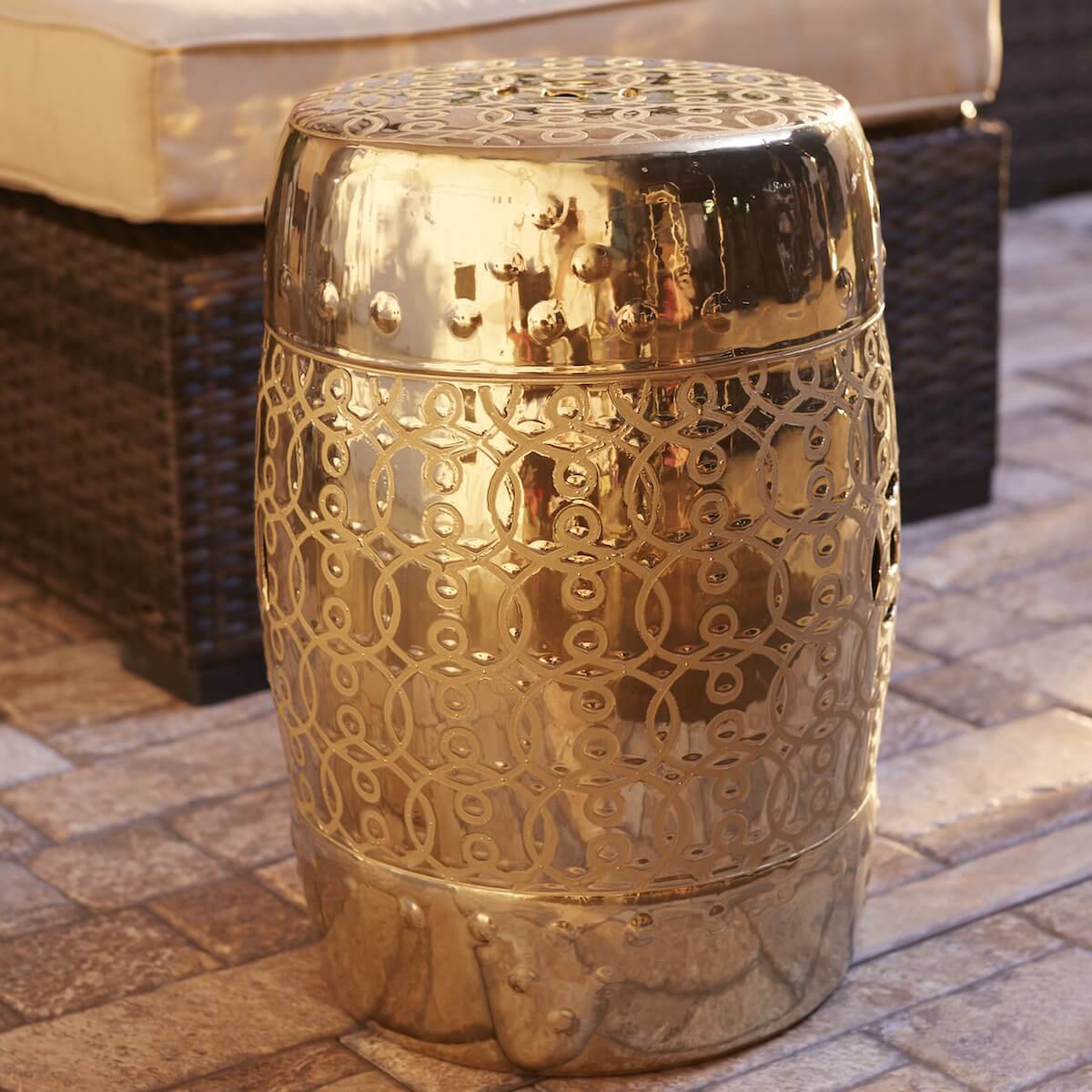 Metallic Garden Stool
