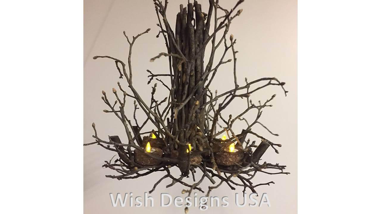 Rustic Twig Chandelier