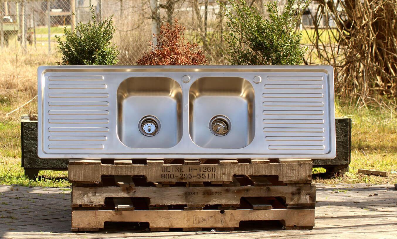 Stainless Steel Vintage Inspired Sink