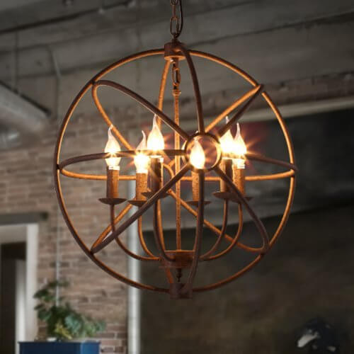 Wrought Iron Retro Chandelier