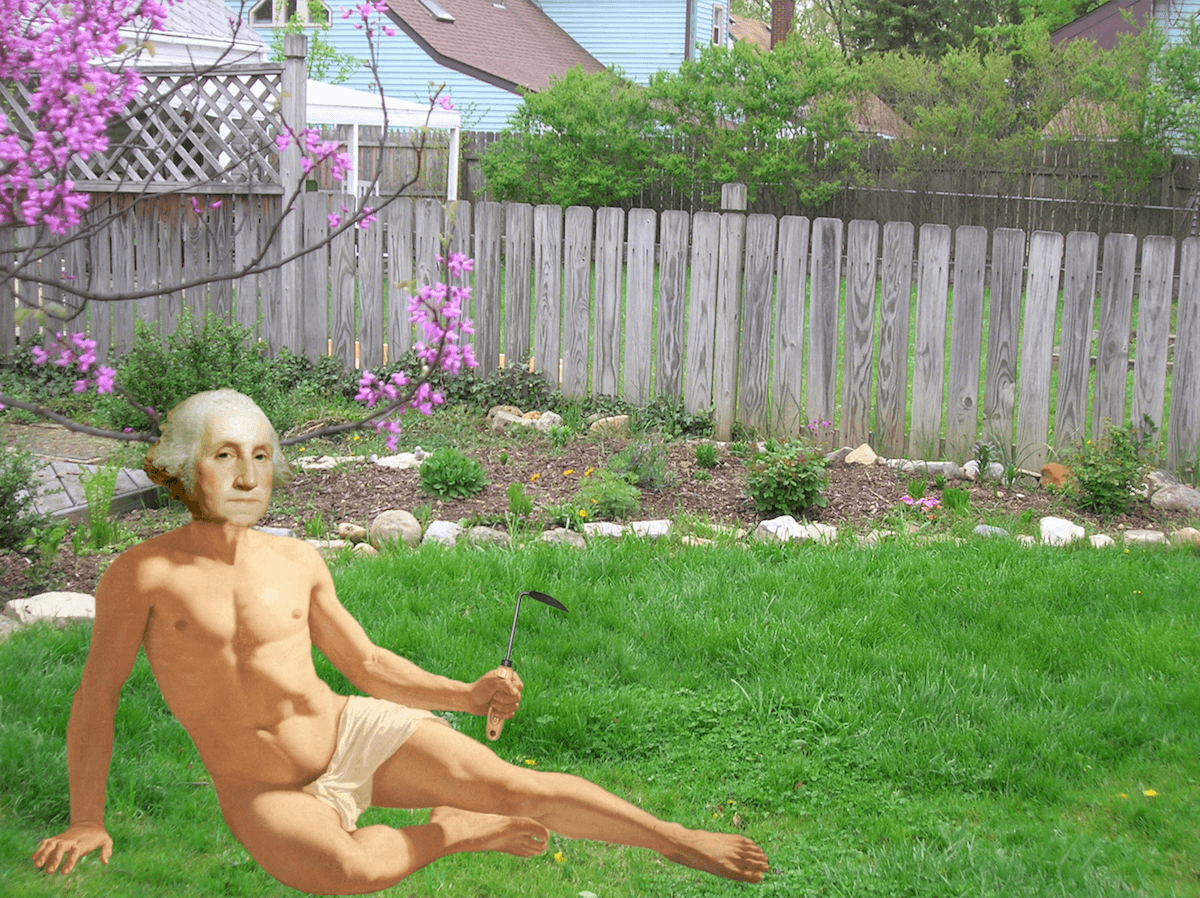 george washington world naked gardening day