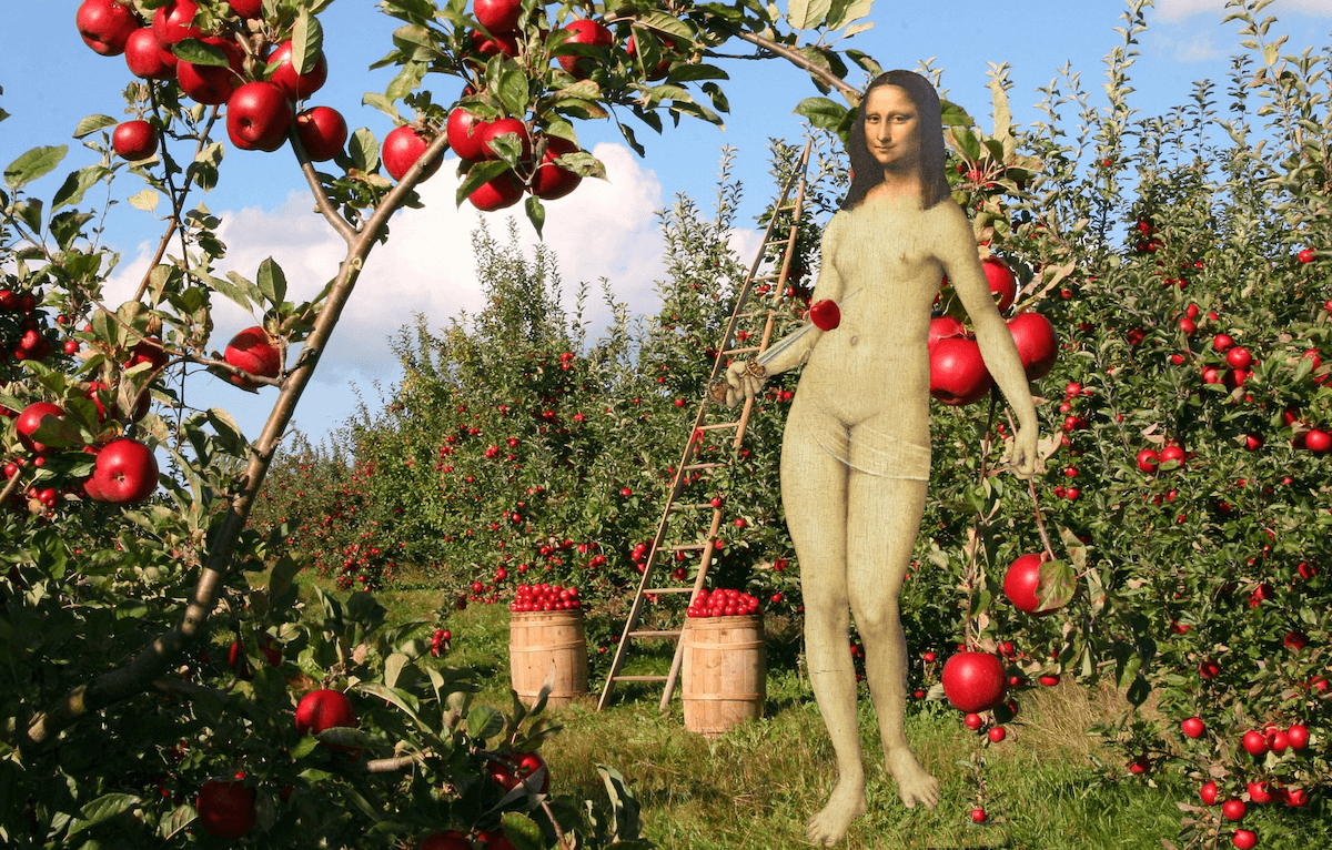 mona lisa world naked gardening day