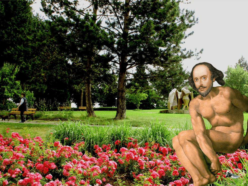 william shakespeare world naked gardening day