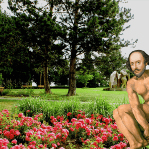william shakespeare world naked gardening day