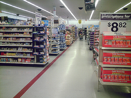 over the counter drug store aisle