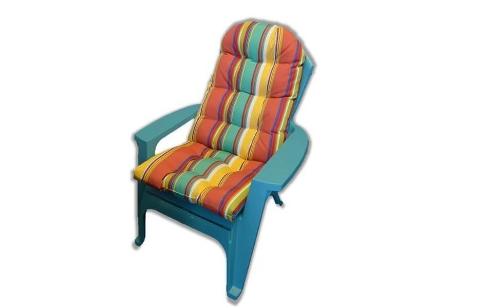 Striped Adirondack Chair Cushion