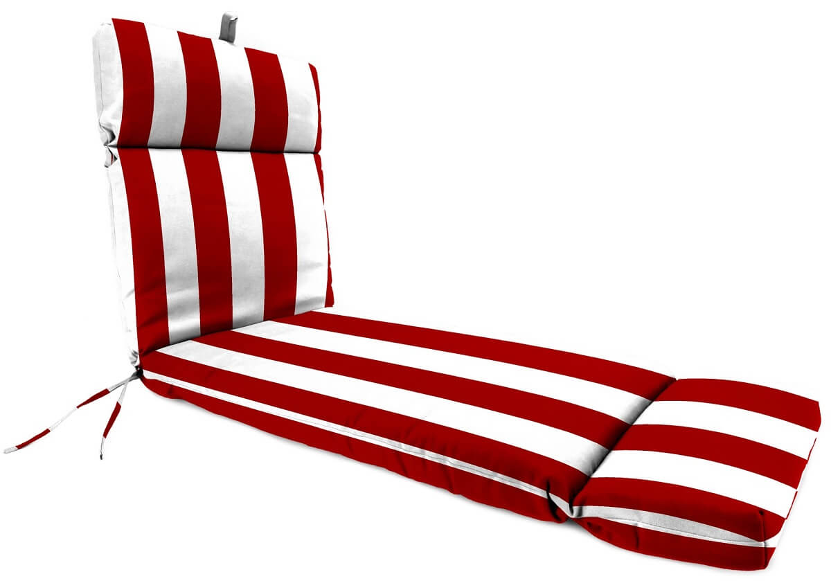 Striped Chaise Lounge Seat Cushions