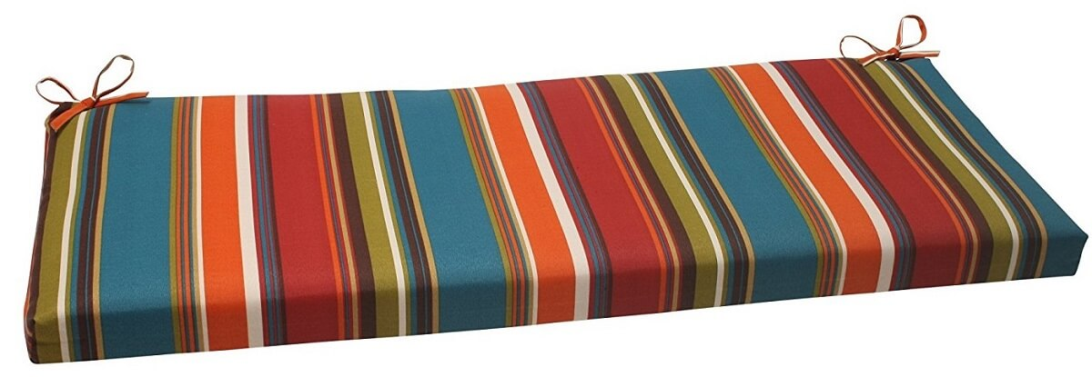 Striped Outdoor Bench Cushion