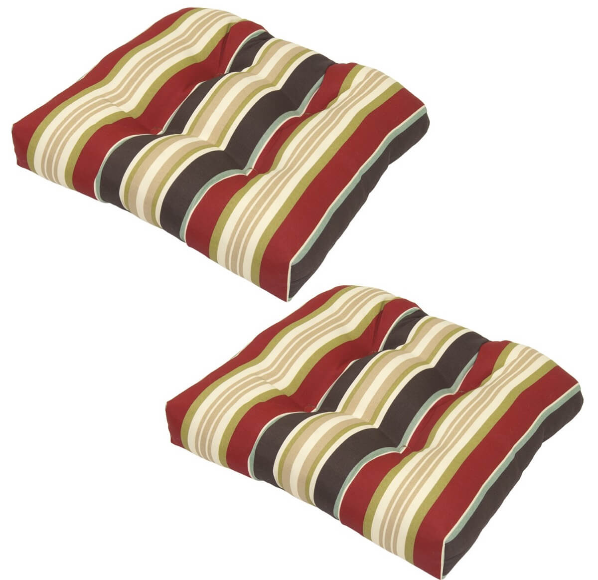 Striped Outdoor Dining Cushions