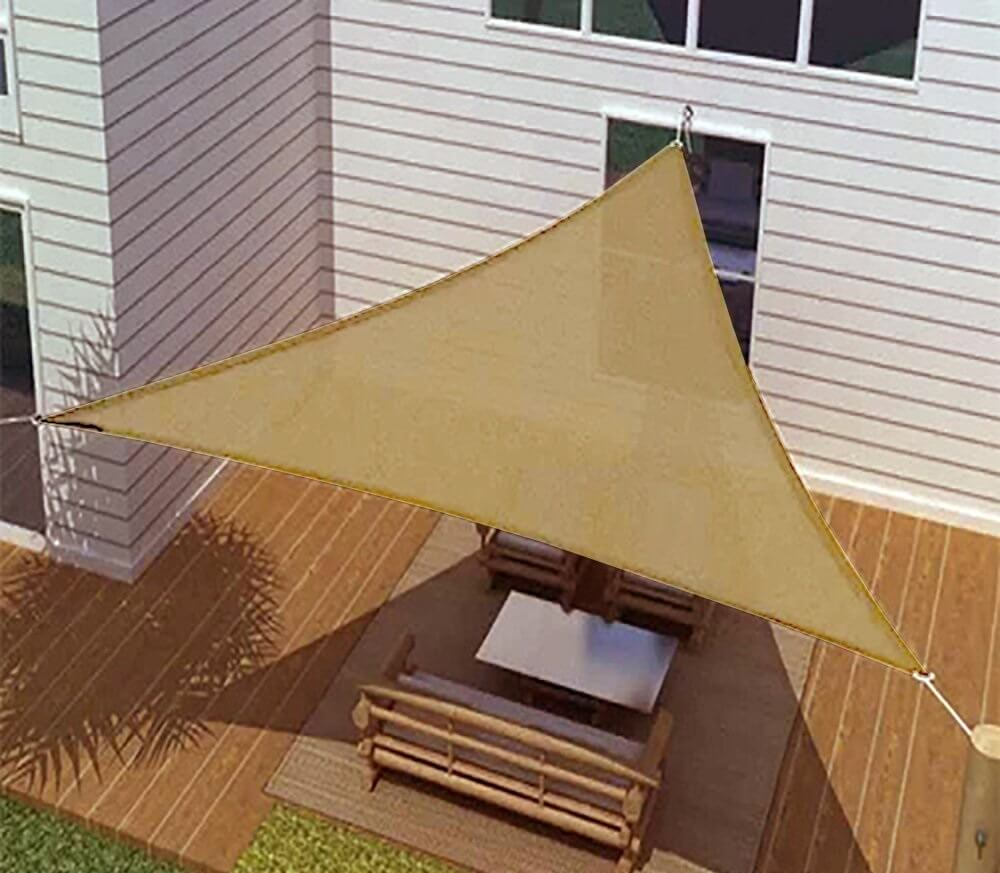 16' Oversized Triangular Shade Sail