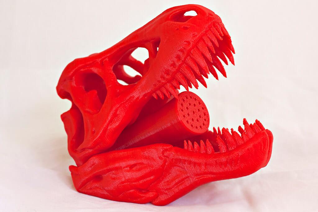 3-D Printed Dinosaur Shower Head