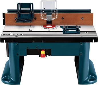 blue bosch brand router table