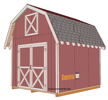 classic red gambrel shed