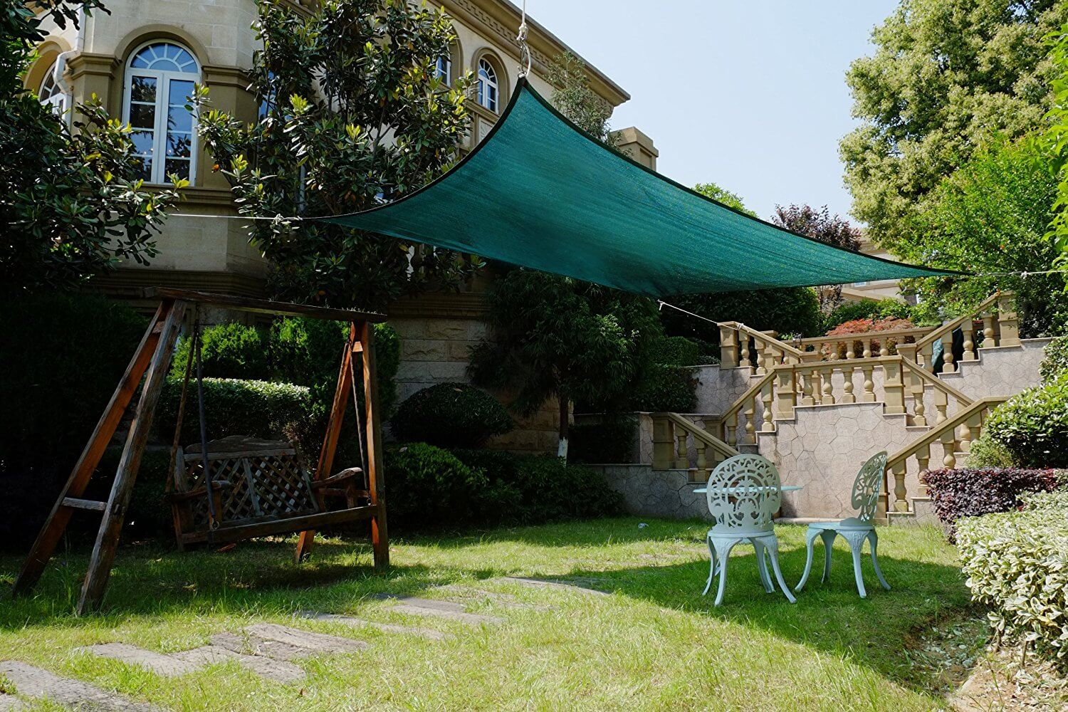 Cool Area Green Rectangular Shade Sail