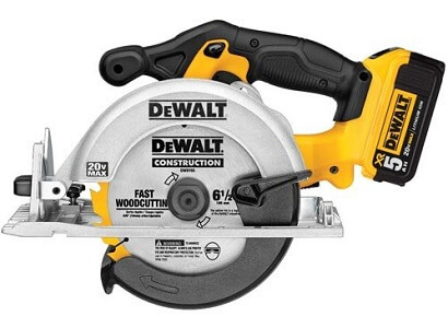 dewalt yellow 20v circular saw