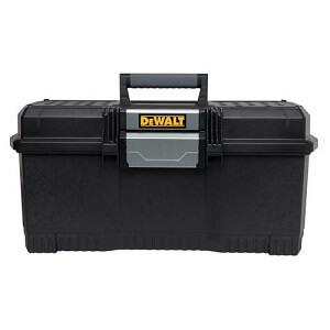 black dewalt tool box