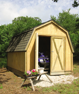 Drive-Thru Backyard Shed Plans