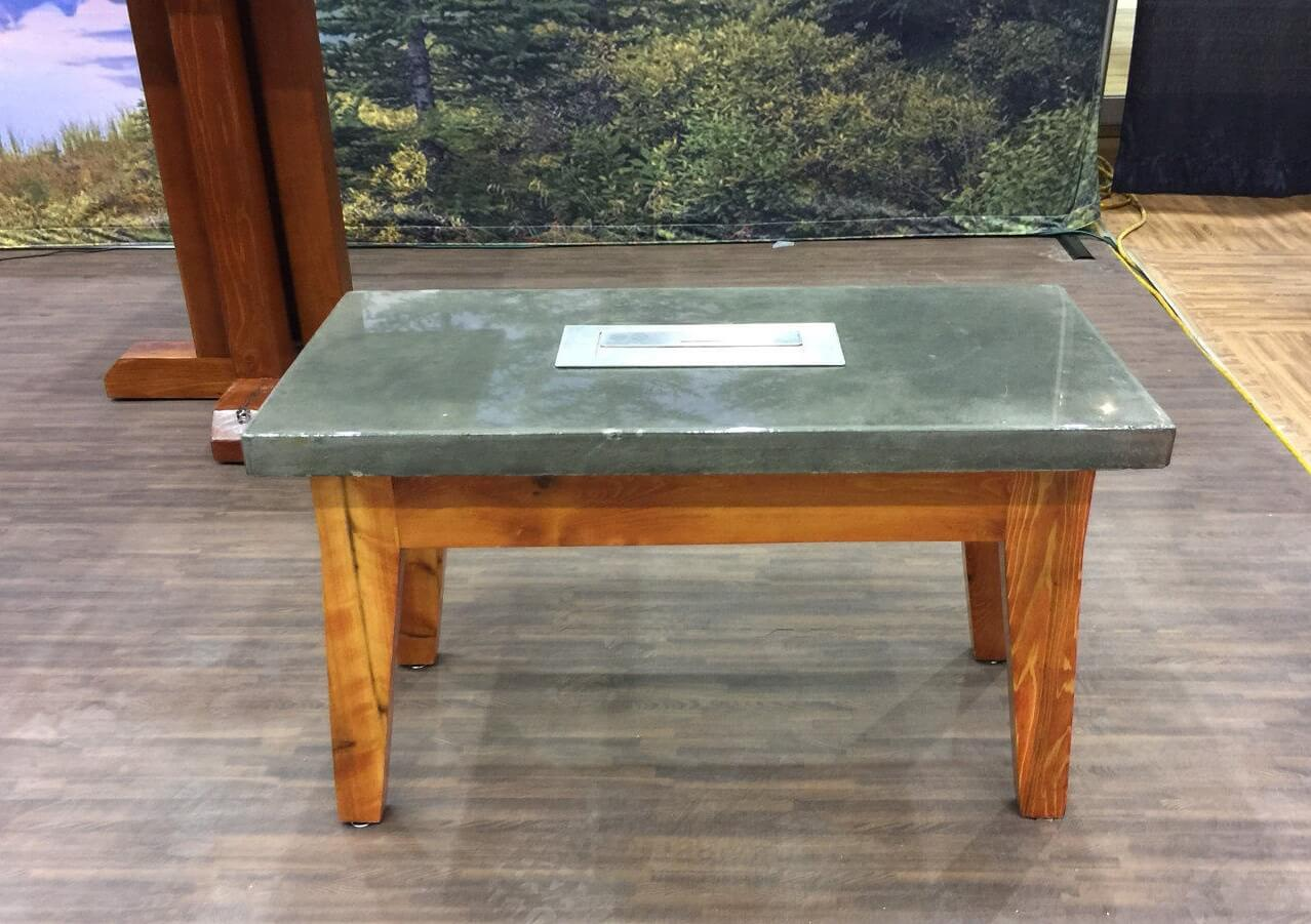 Concrete Coffee Table with Fire Feature
