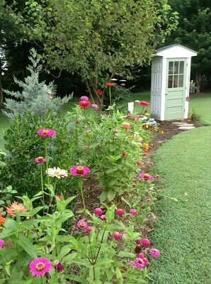 Four-Door Decorative Garden Shed Plans