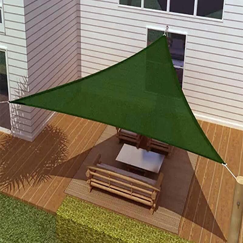Green Triangular Shade Sail